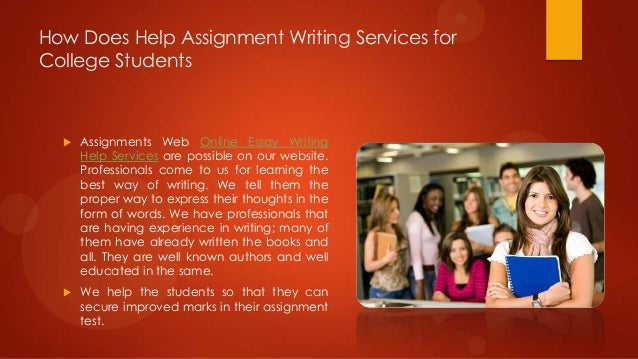 writing assignments for students