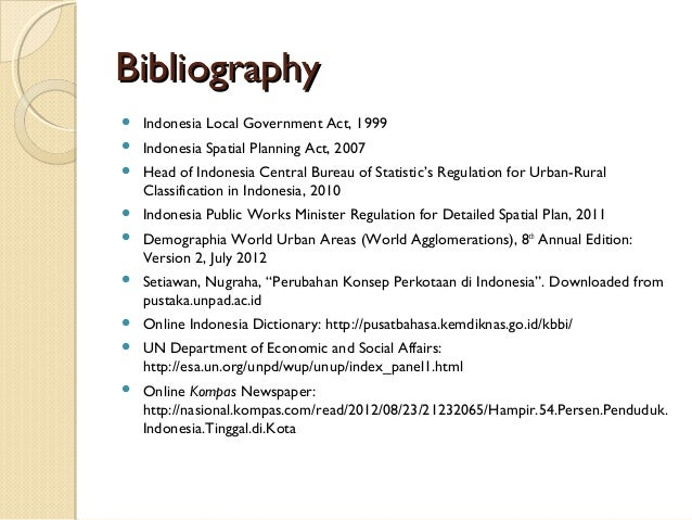 Bibliographies meaning