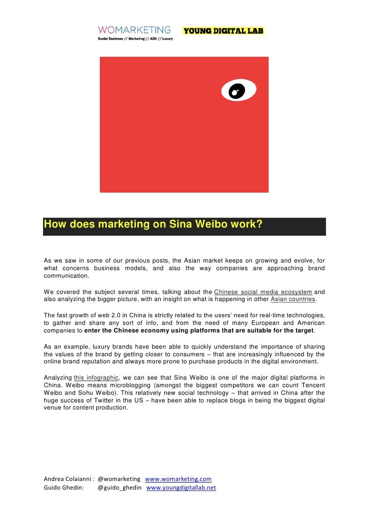 How does marketing on sina weibo work ?