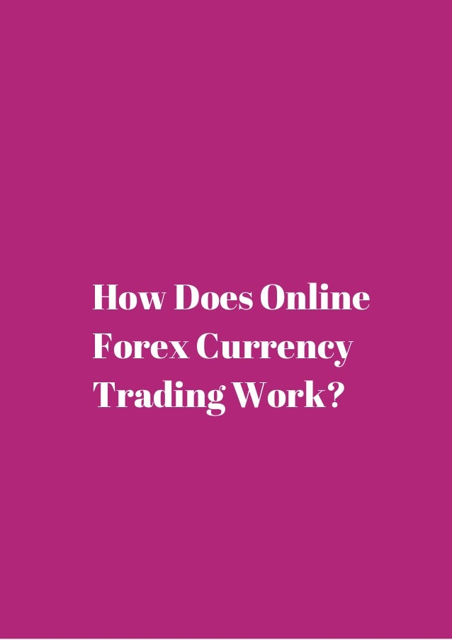 Online forex currency trading