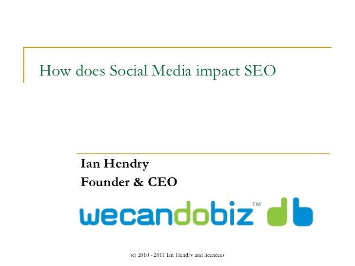 How does Social Media impact SEO Ian Hendry Founder & CEO