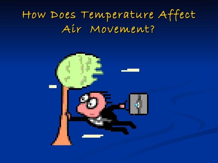 How does temperature affect air  movement