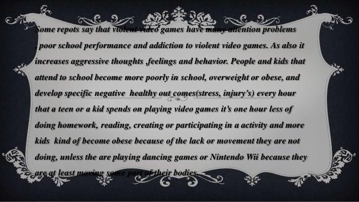 Violent Video Games Cause Behavior Problems How does violen...