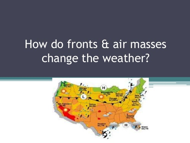 How do fronts & air masses change the