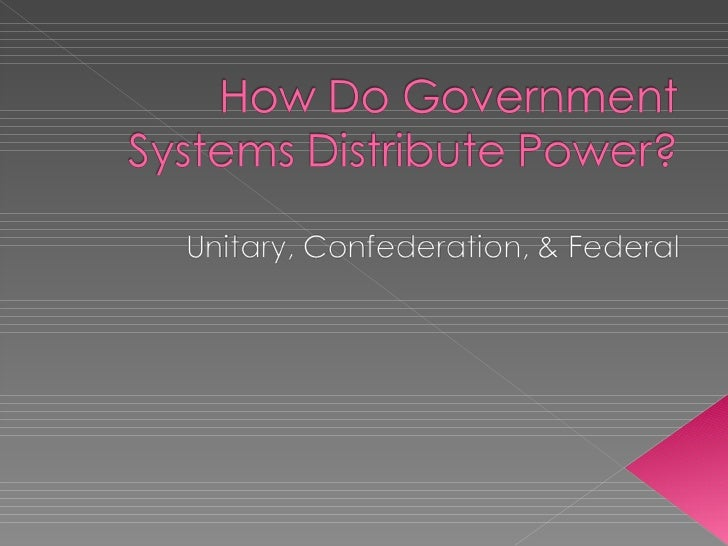 How do governments distribute power pink