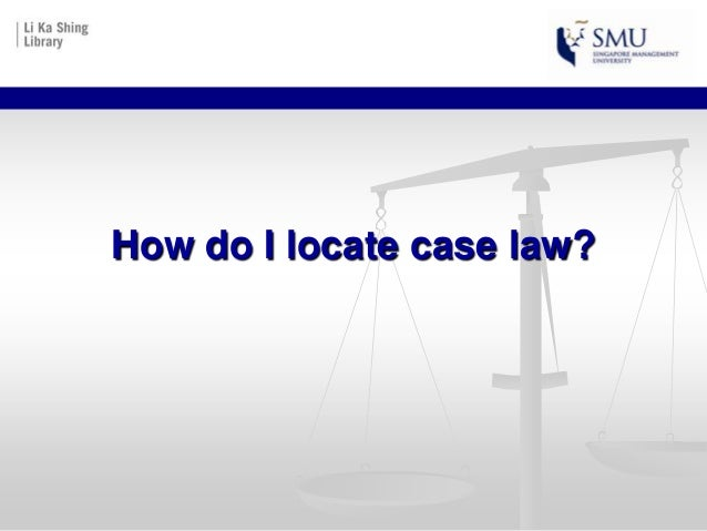 How do i locate case law