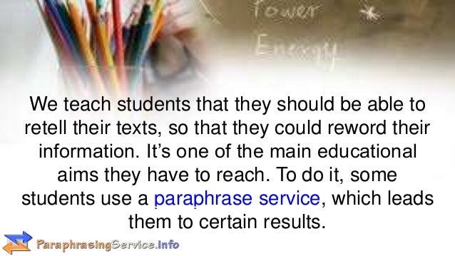 Paraphrase text