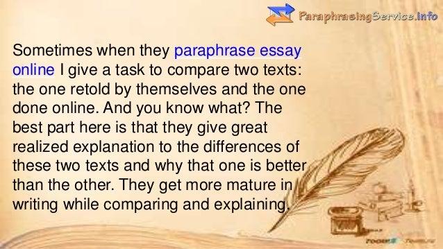 Rephrase text