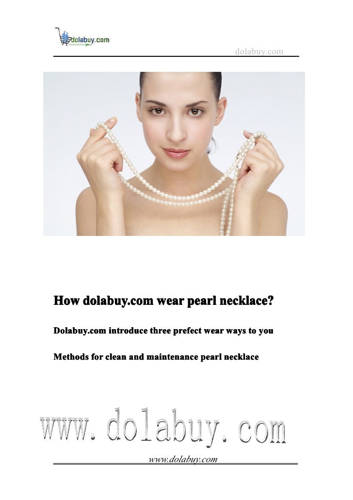 How dolabuy.com wear pearl necklace