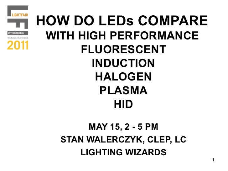 HOW DO LEDs COMPARE WITH HIGH PERFORMANCE      FLUORESCENT        INDUCTION         HALOGEN          PLASMA            HID...