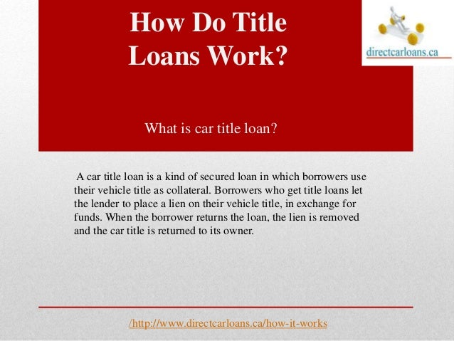 Title Loan Benefits