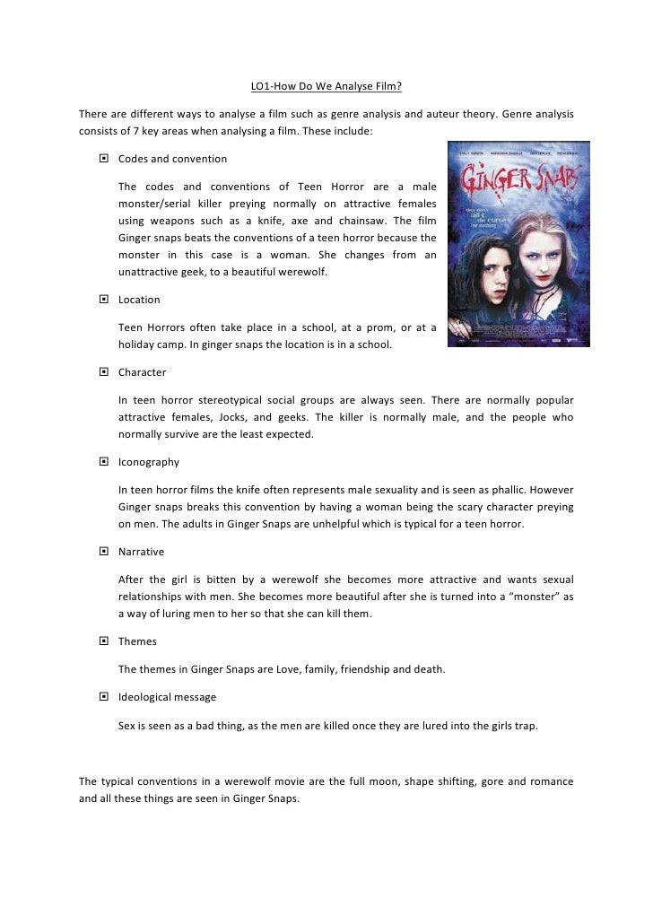 LO1-How Do We Analyse Film?There are different ways to analyse a film such as genre analysis and auteur theory. Genre anal...