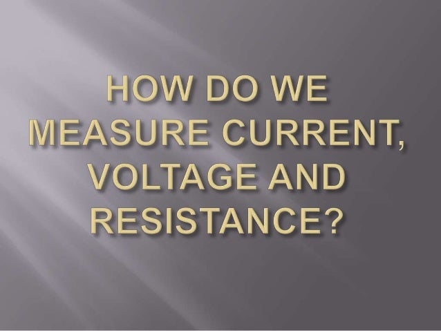 how to find resistance with voltage and current