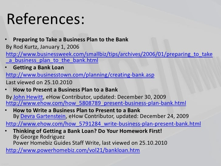 Business plan for bank
