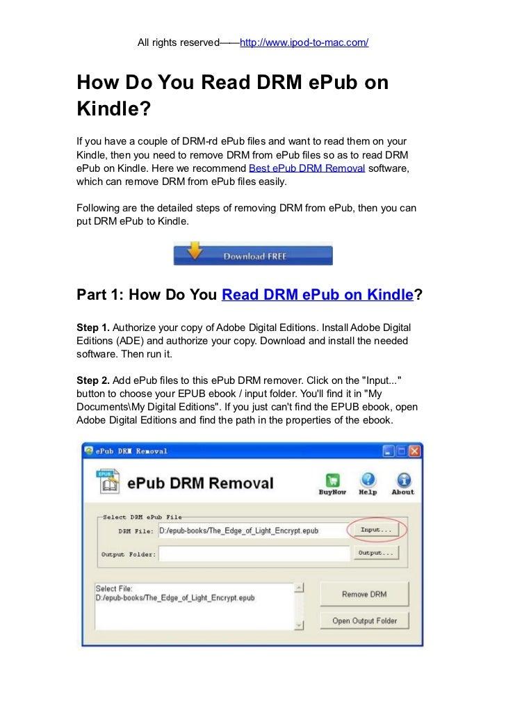 How do you read drm e pub on kindle