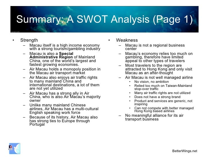 swot analysis of comair airline We go under the hood to find out how each airline invests capital  delta vs united: which airline will make  the dupont analysis answers this question by.