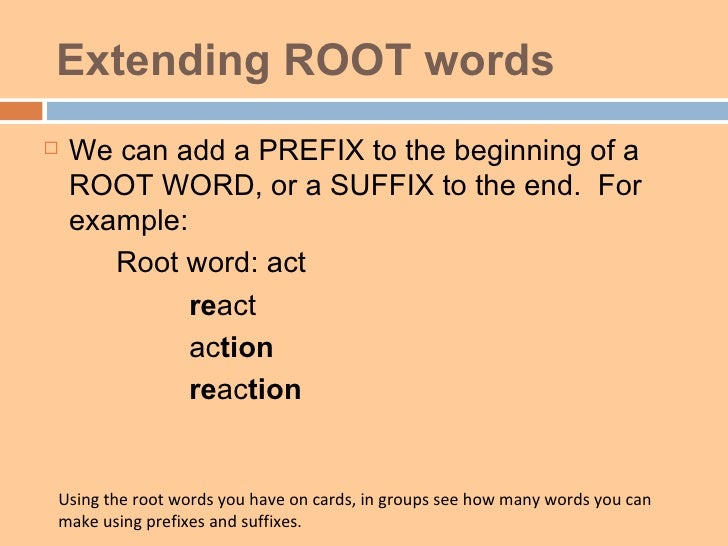 How do you spell for Terr root word