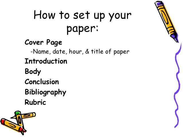 set up cover page research paper