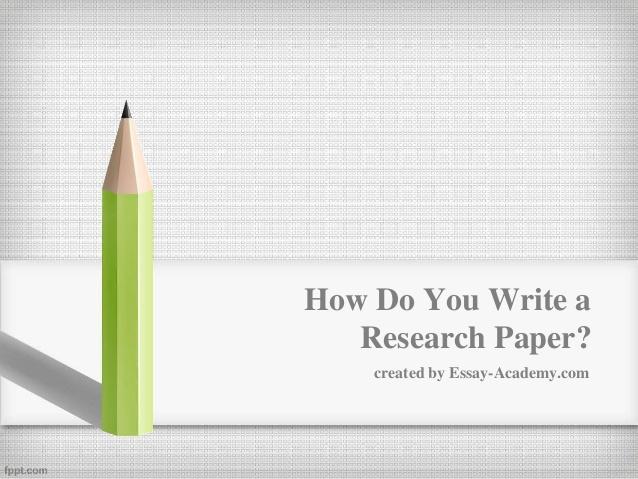 write research