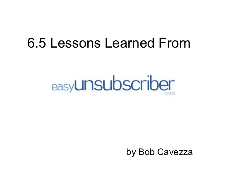 6.5 Lessons from EasyUnsubscriber