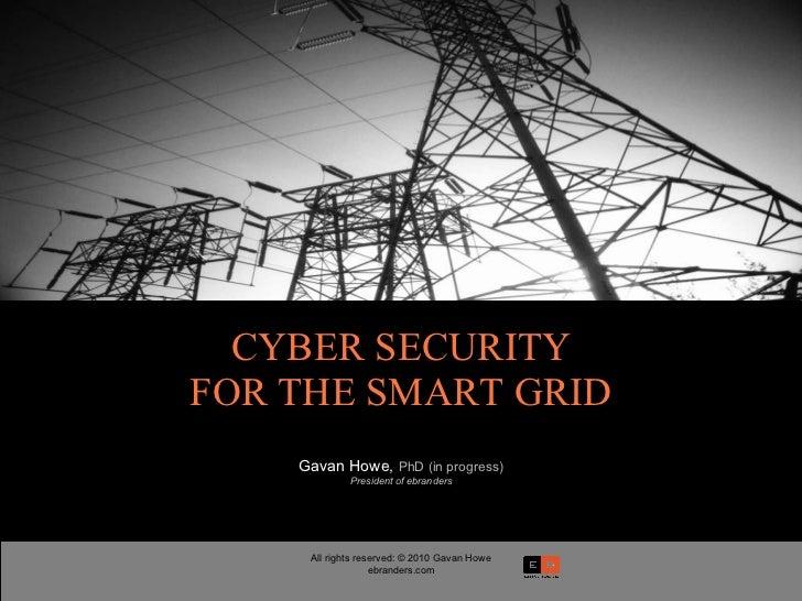 Howe Brand, smart security grid risks