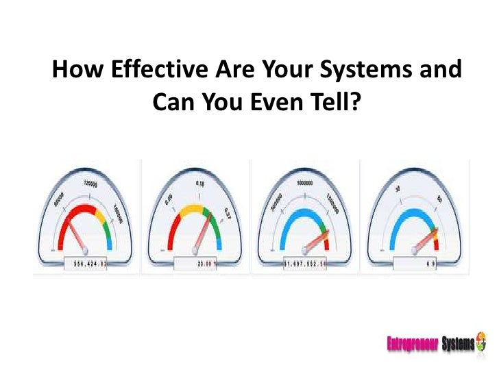 How Effective Are Your Systems and Can You Even Tell?<br />
