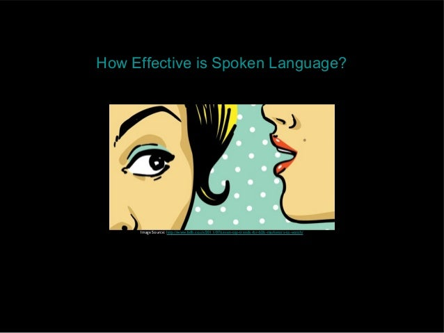 How Effective is Spoken Language?     Image Source: http://www.bdb.co.uk/2011/07/seven-top-trends-for-b2b-marketers-to-wat...