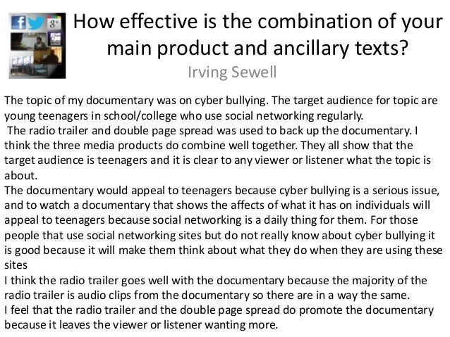 How effective is the combination of your               main product and ancillary texts?                                  ...