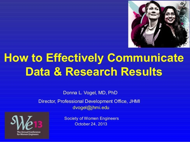 How to Effectively Communicate Data & Research Results