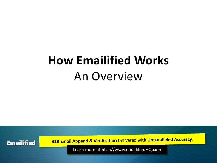 How Emailified WorksAn Overview<br />