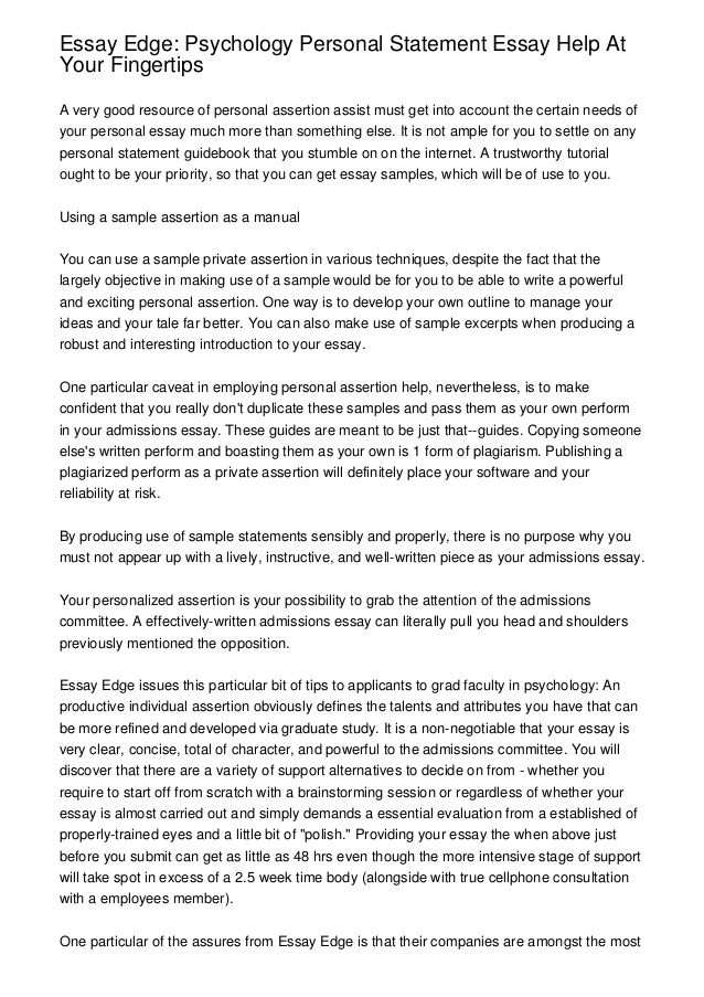 Sample Essay #1: - Keck Science Department