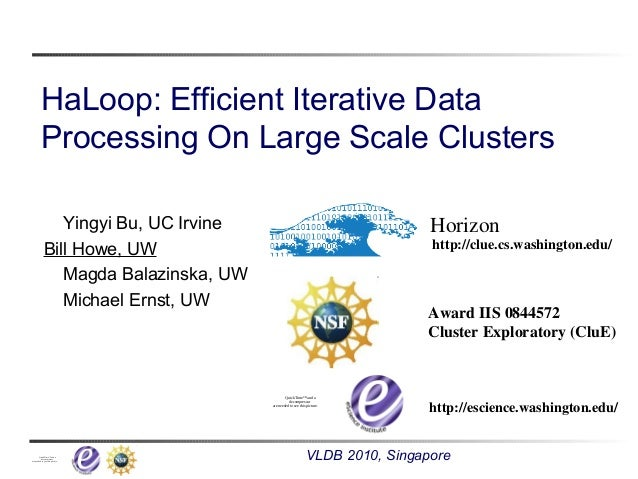 HaLoop: Efficient Iterative Processing on Large-Scale Clusters