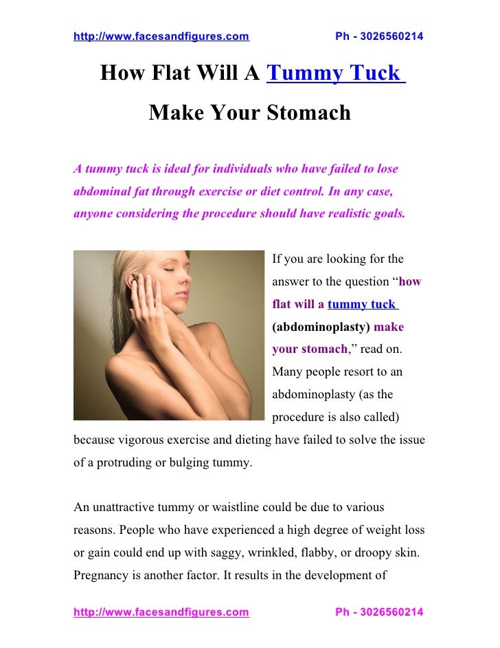 http://www.facesandfigures.com                     Ph - 3026560214     How Flat Will A Tummy Tuck              Make Your S...