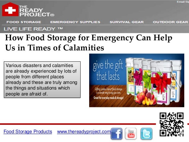 How Food Storage for Emergency Can Help Us in Times of Calamities