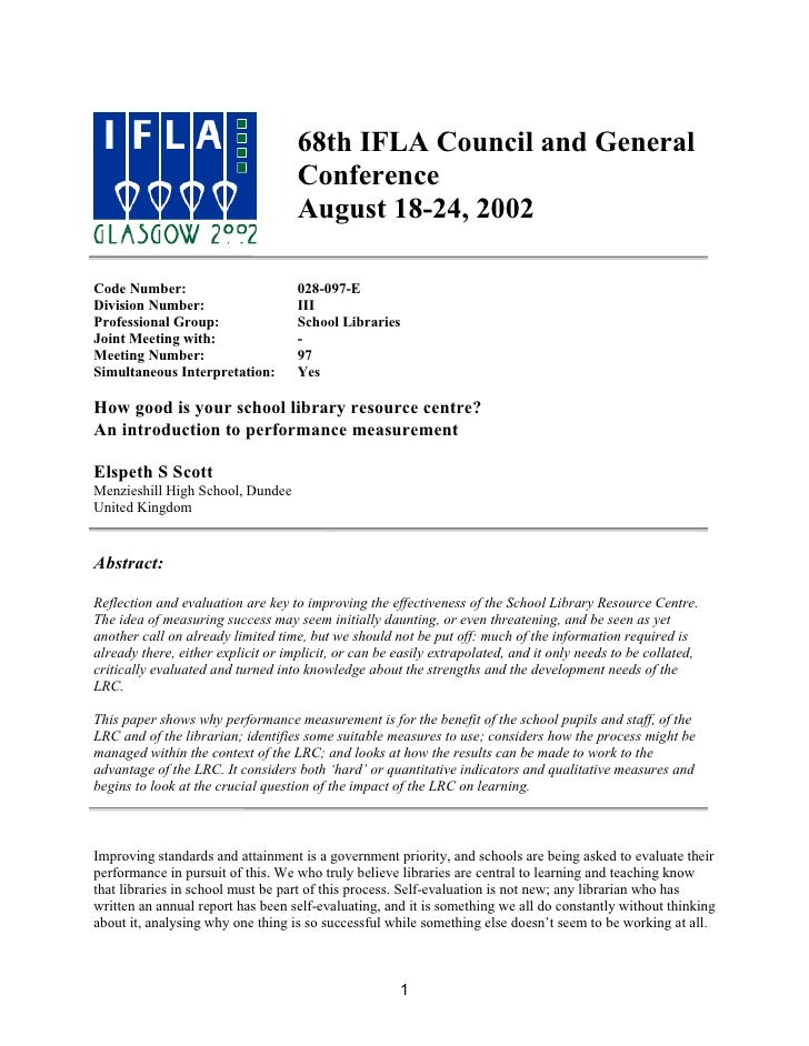 68th IFLA Council and General                                    Conference                                    August 18-2...