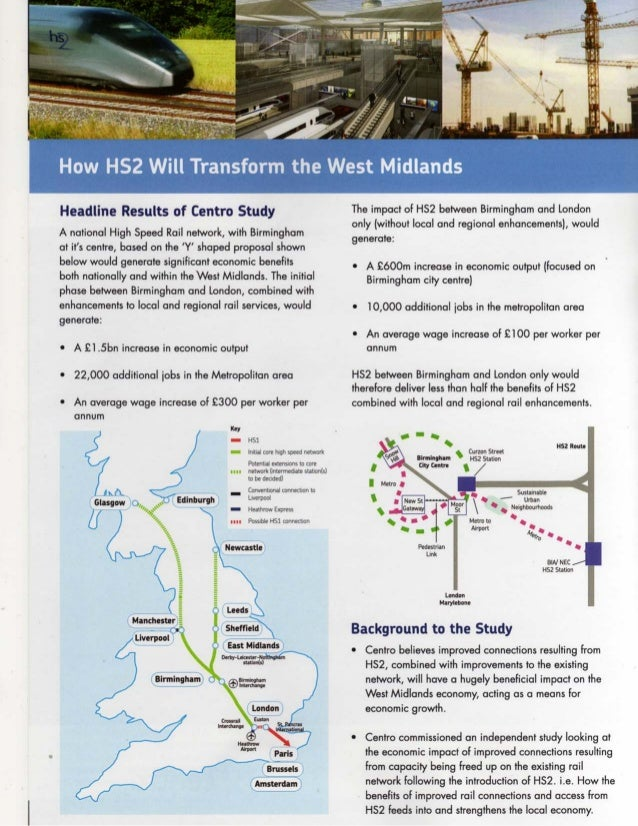 "'-""il  '. '4'It: §l""Z*I'  Headline Results of Centre Study  A national High Speed Rail network,  with Birmingham at it's c..."