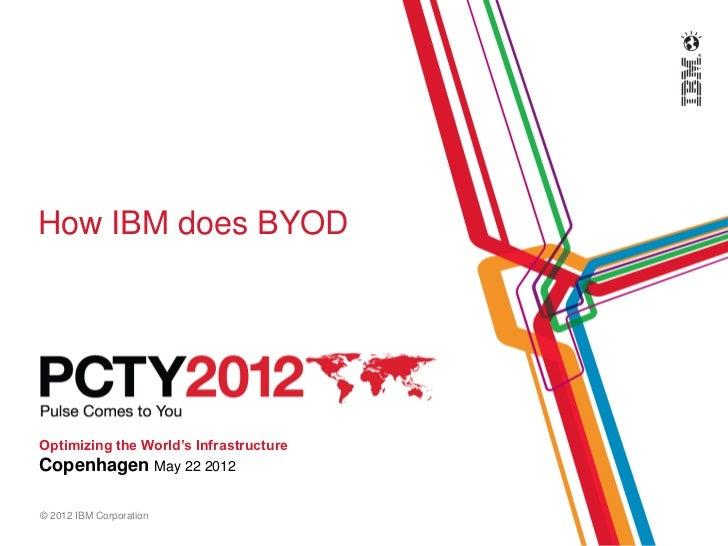 PCTY 2012, How IBM does BYOD v. Martin Vittrup