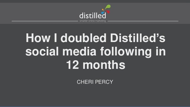 How I doubled Distilled's social media following in 12 months CHERI PERCY