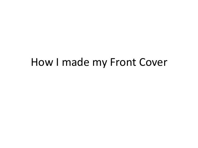 How I made my Front Cover