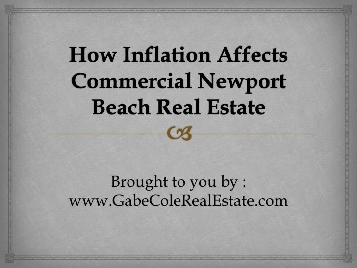 How Inflation Affects Commercial Newport Beach Real Estate