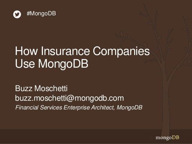 How Insurance Companies Use MongoDB