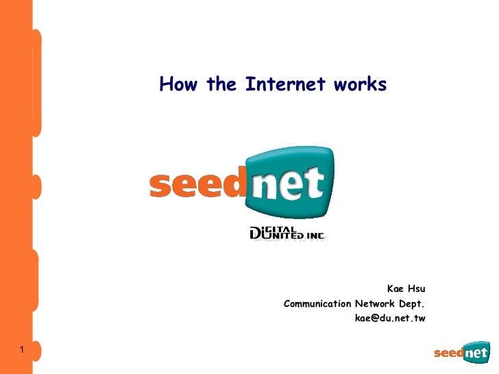 How the Internet works Kae Hsu Communication Network Dept. [email_address]