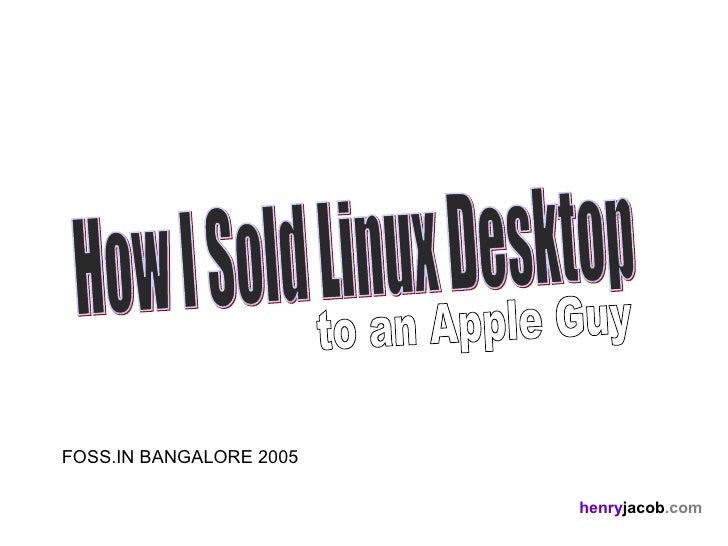 How  I  Sold  Linux