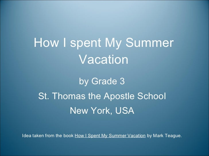 Essay On Vacations