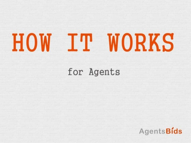 How it works for Agents - AgentsBids