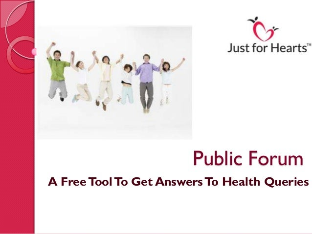 Public ForumA Free Tool To Get Answers To Health Queries