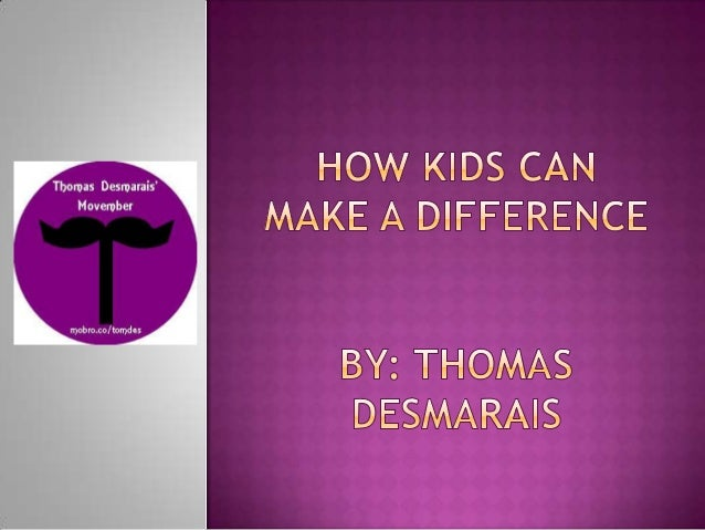How kids can make a difference