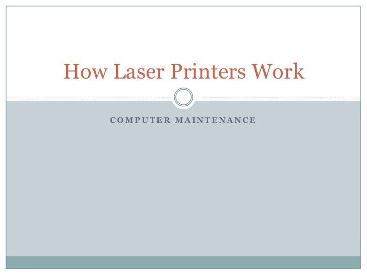 How laser printers work