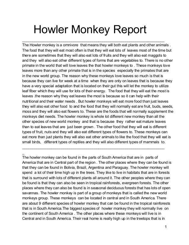 Howler monkey report