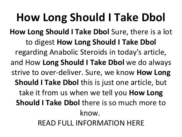 how long is dbol in your system